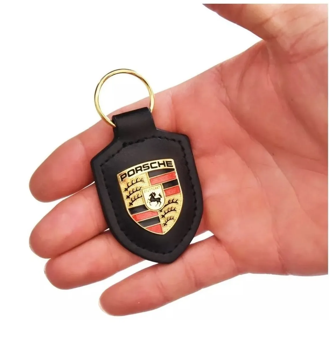 Chaveiro Porsche Cayenne Macan 911 718 Cayman Panamera Preto