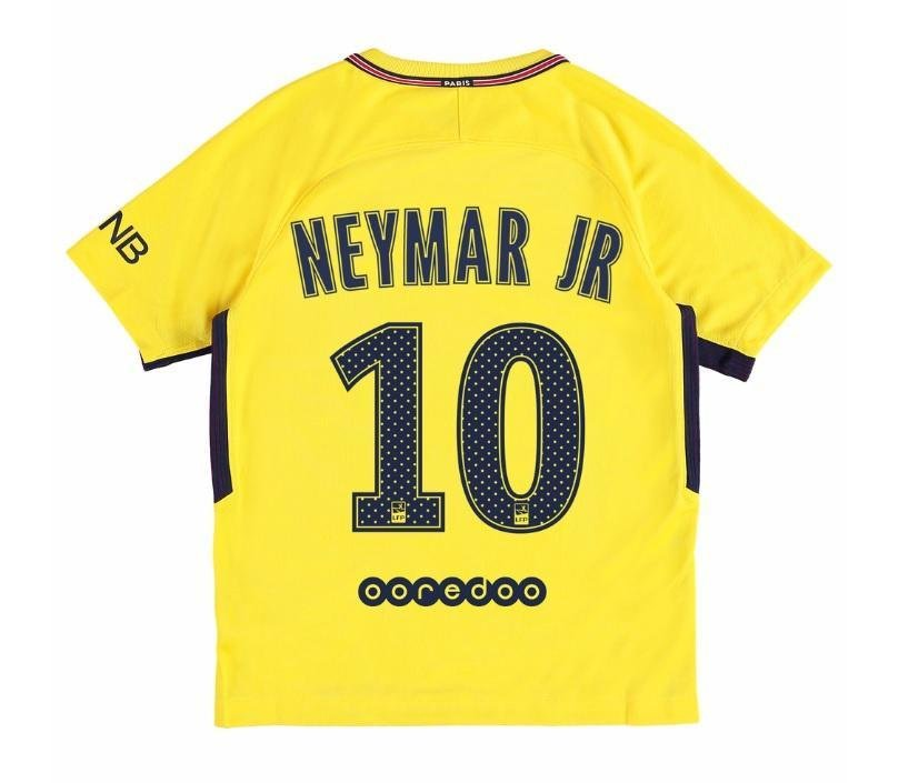 0a32369908 Camisa Infantil + Shorts Paris Saint Germain Psg Away 2017   2018 ...
