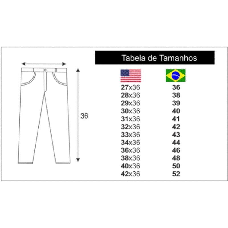 Medida Calça Jeans Cinch Importada
