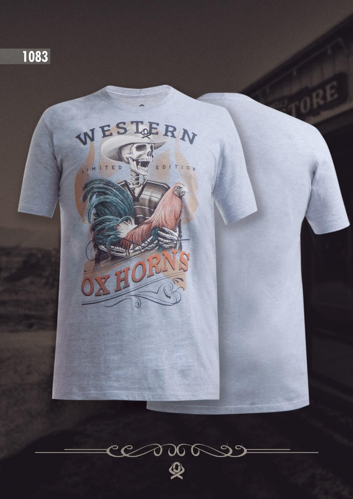 Camiseta Ox Horns Masculina Mescla 1083