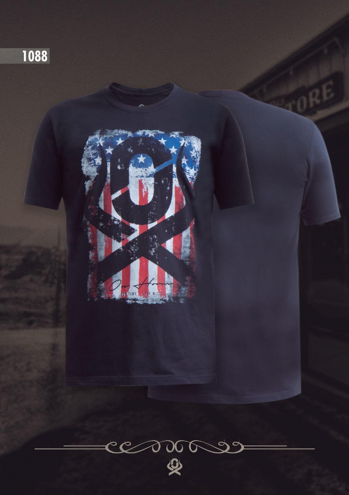 Camiseta Ox Horns Masculina Preta 1088
