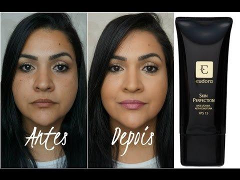 Base Eudora Liquida Alta Cobertura Eudora Skin Perfection - 30 ml - Maquiagem e Cia