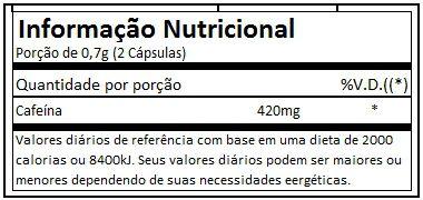 tabela nutricional thermogenic probiotica