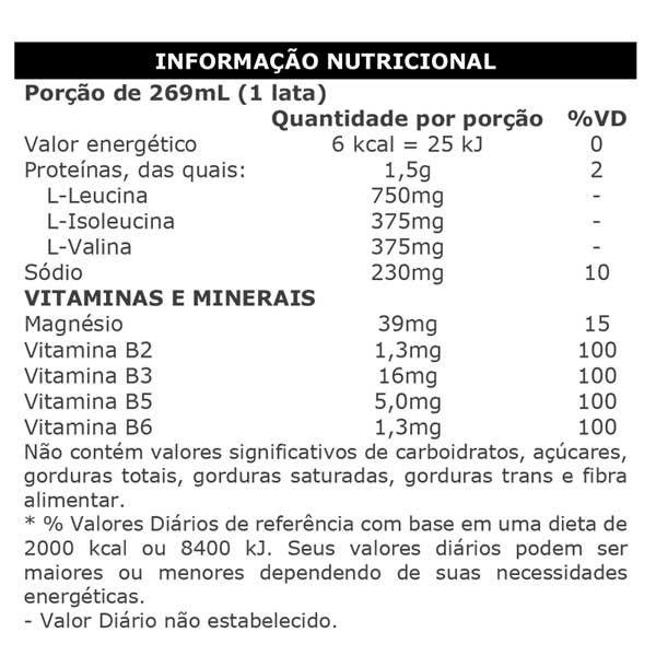 Tabela Nutricional Max Energy