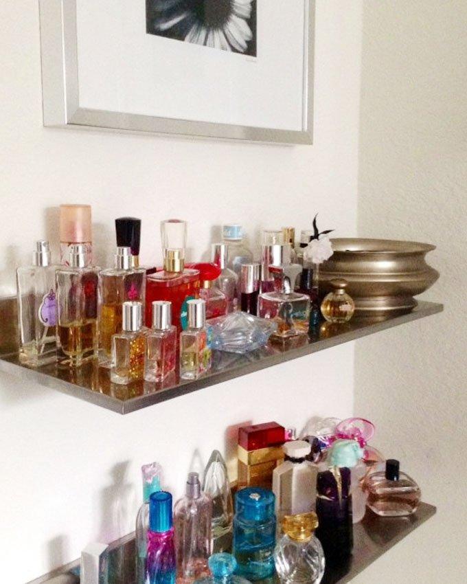 como organizar seus perfumes