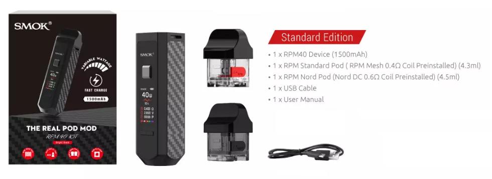 Kit Pod RPM40 1500mAh - Smok https://www.mundovapor.com