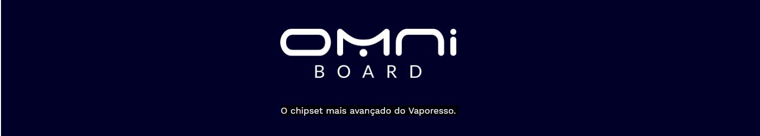 Imagem do logotipo do OMNI Board, o chipset mais avançado da Vaporesso.