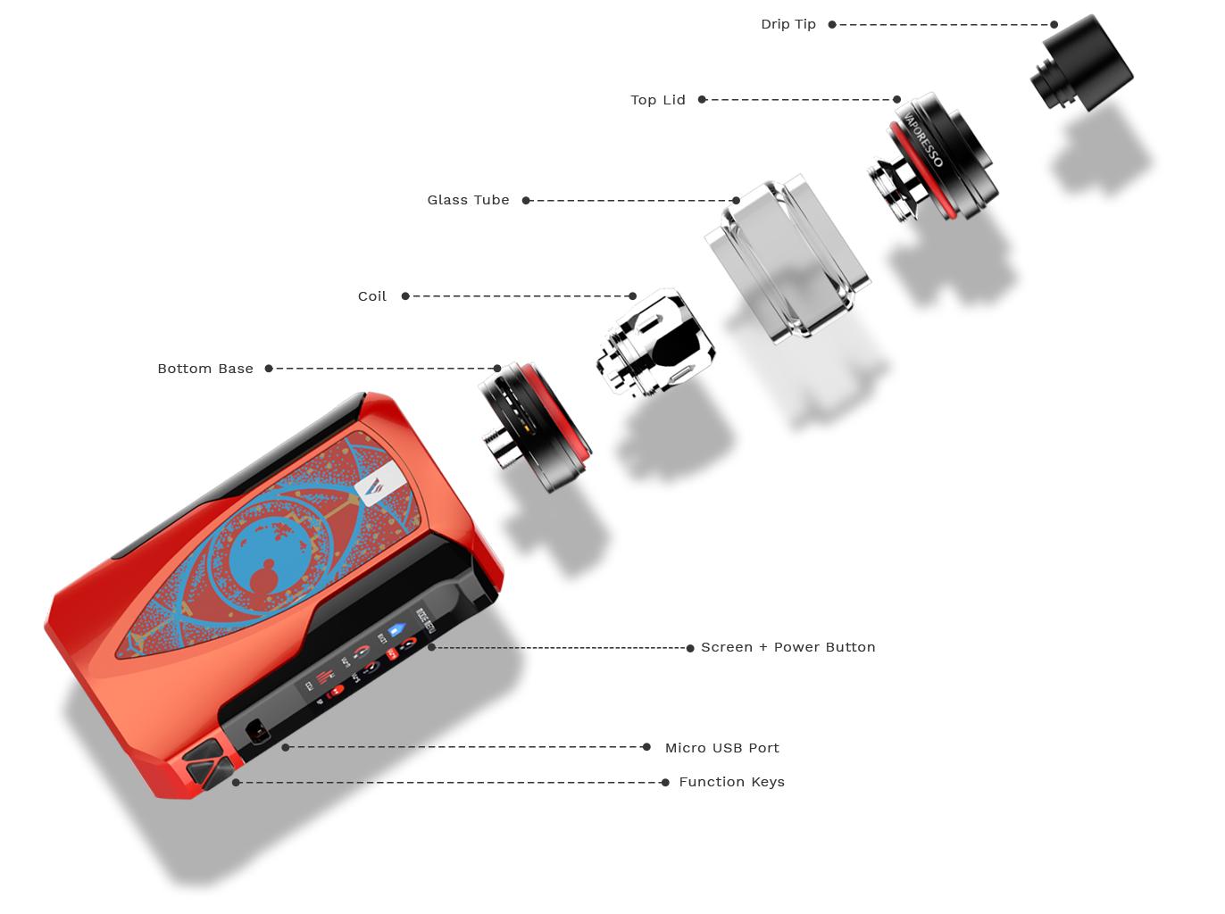 Kit Tarot Baby c/ tanque NRG SE - Vaporesso