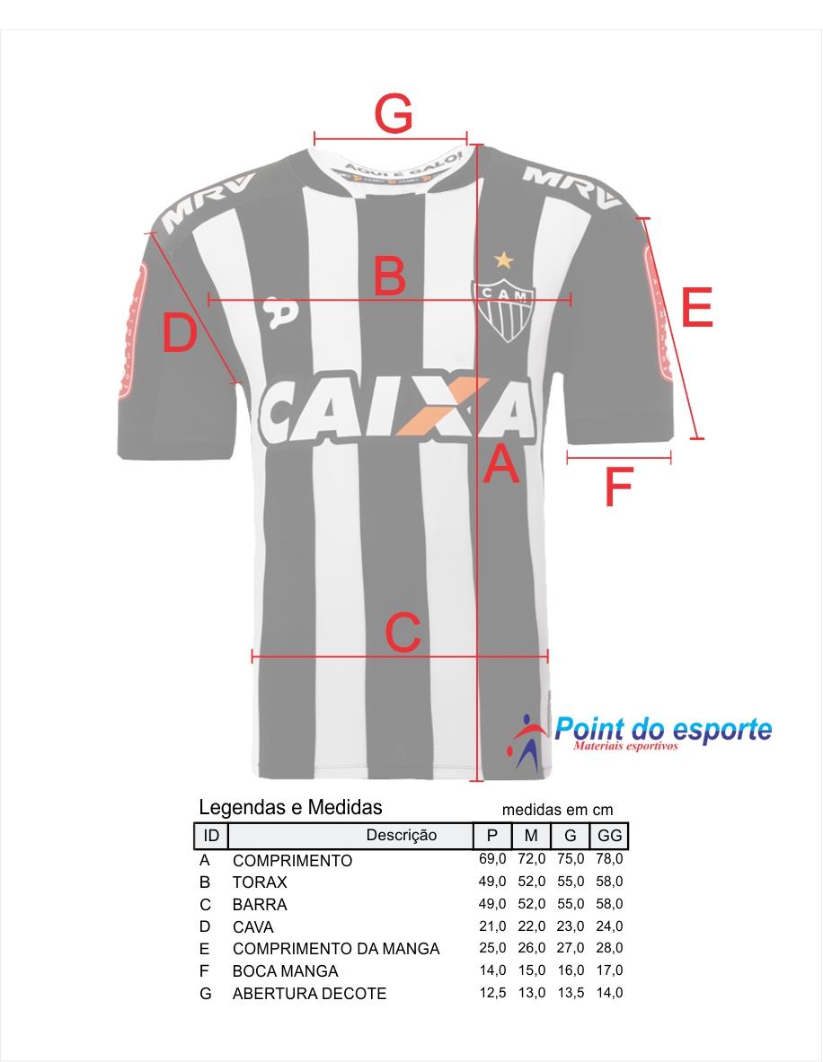 Camisa Atlético Mineiro Oficial 1 DRYWORLD Jogador 2016 - POINT DO ... be97e0d16fecb