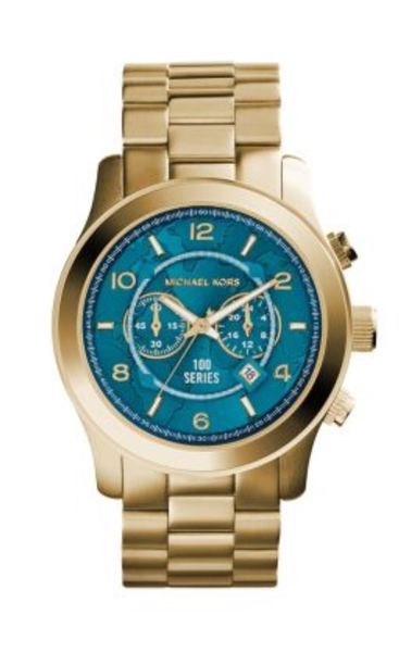 d0b176b5cfe77 Relógio Michael Kors Mk8315 Dourado Turquesa
