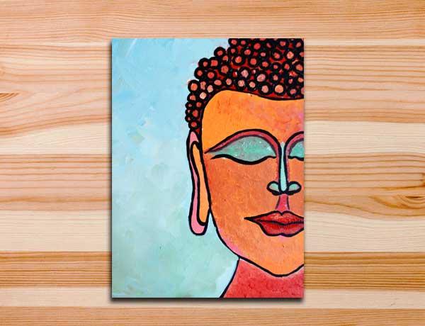 Buda pintura em tela