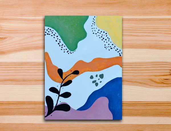 pintura abstrata em tela aula