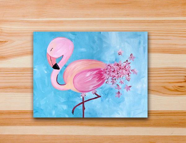 Pintura acrílica Flamingo