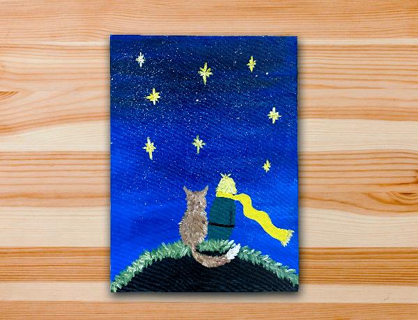 Pintura em tela pequeno principe aula diy