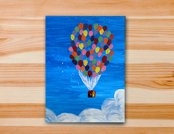 Pintura em tela up altas aventuras aula