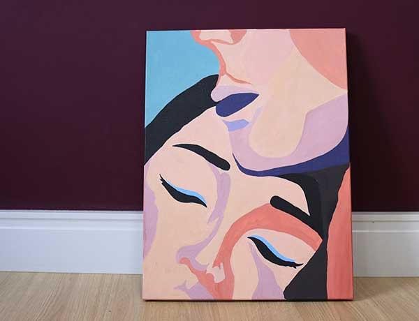 Acalento pintura acrílica aula.