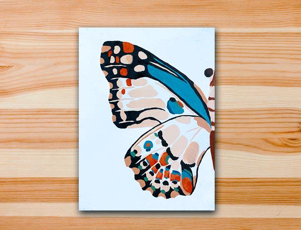 Pintura acrílica borboleta.