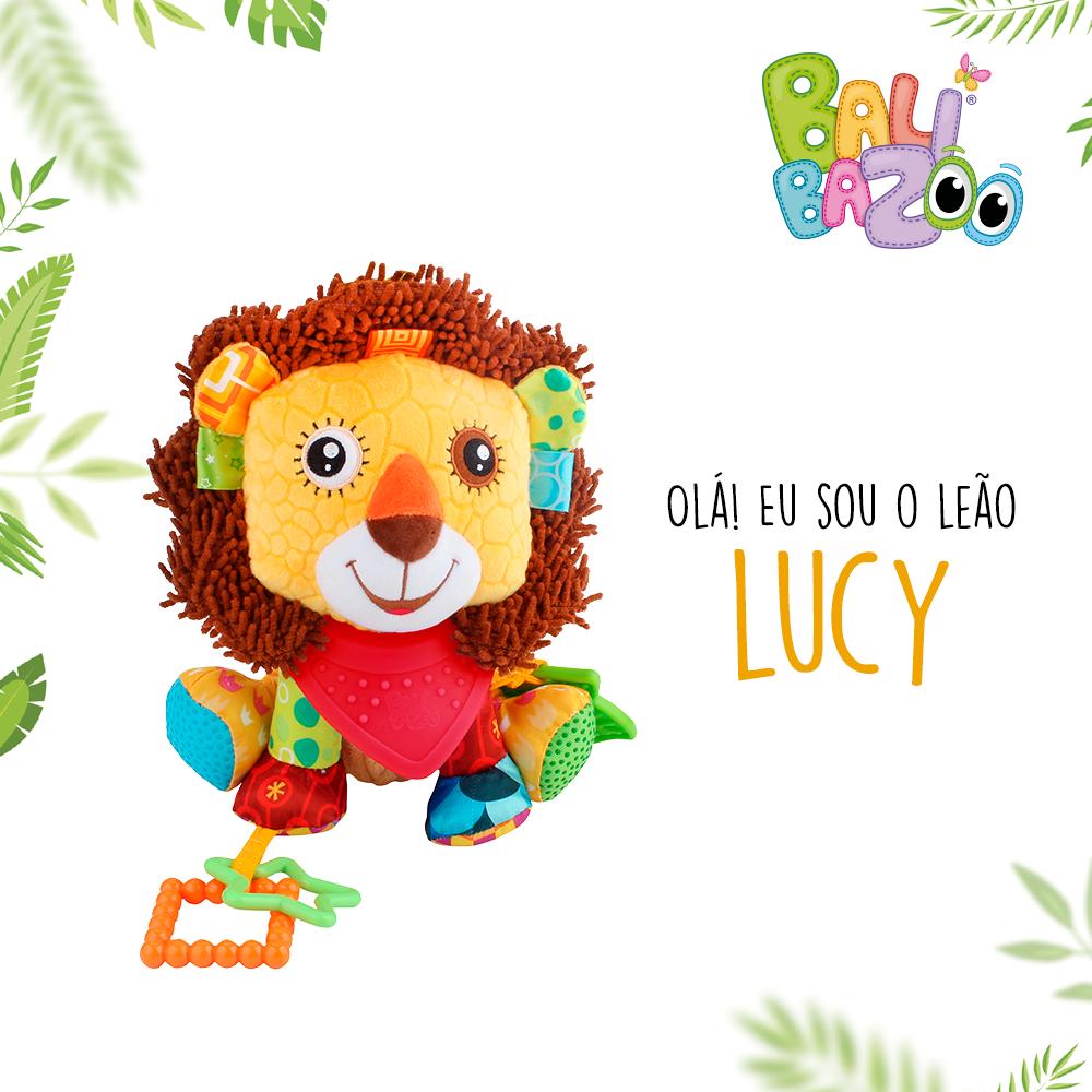 Pelúcia de Atividades Bandana Buddies Leão Lucy - Balibazoo