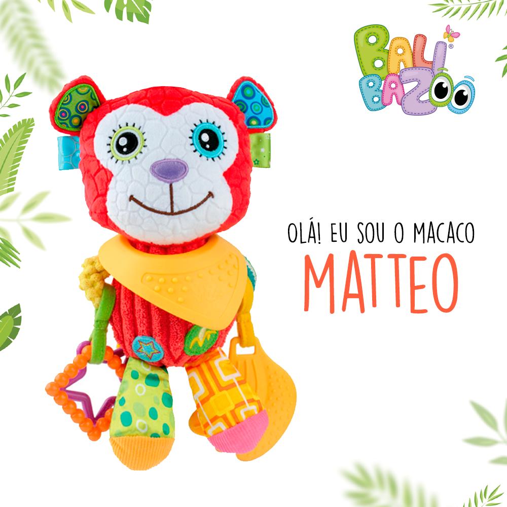 Pelúcia de Atividades Bandana Buddies Macaco Matteo