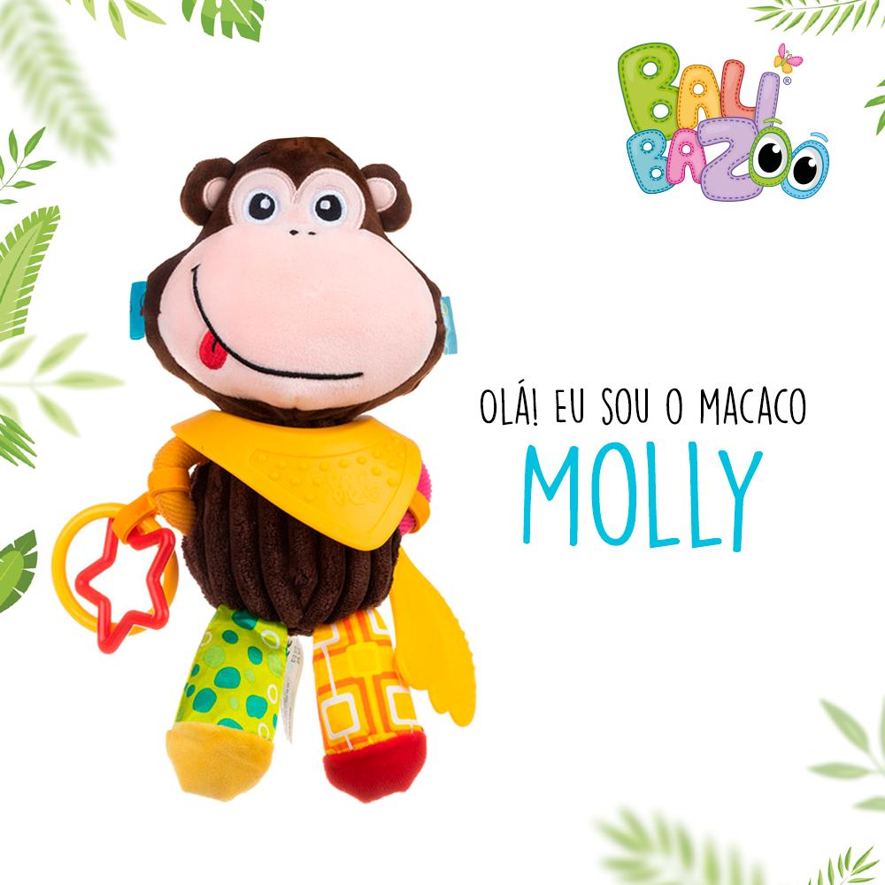 Pelúcia de Atividades Bandana Buddies Macaco Molly - Balibazoo