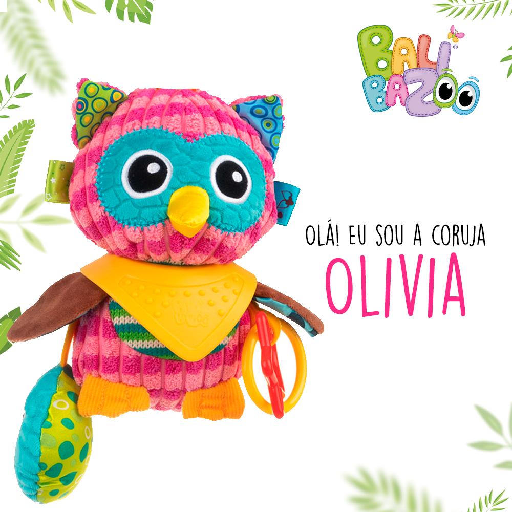Pelúcia de Atividades Bandana Buddies Coruja Olivia