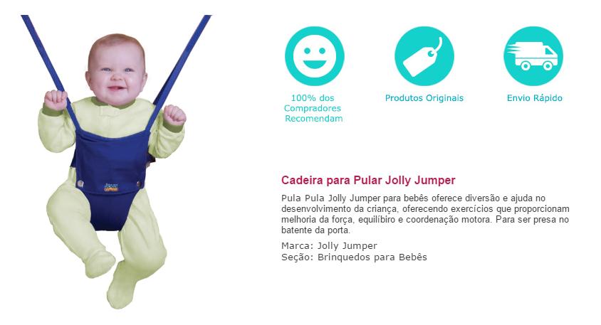 Cadeirinha Pula Pula Jolly Jumper