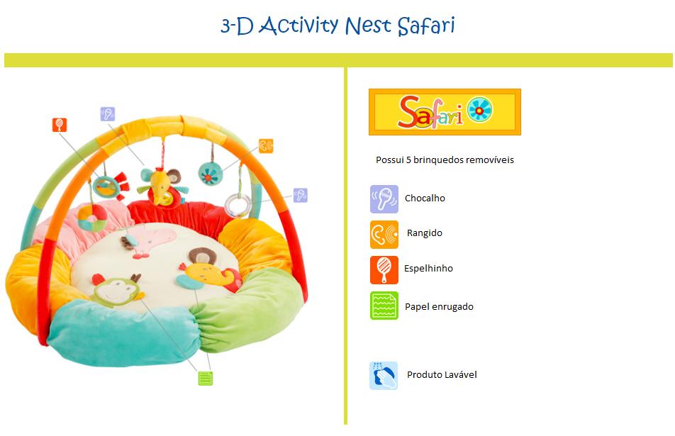 Centro de Atividades para Bebe Safari