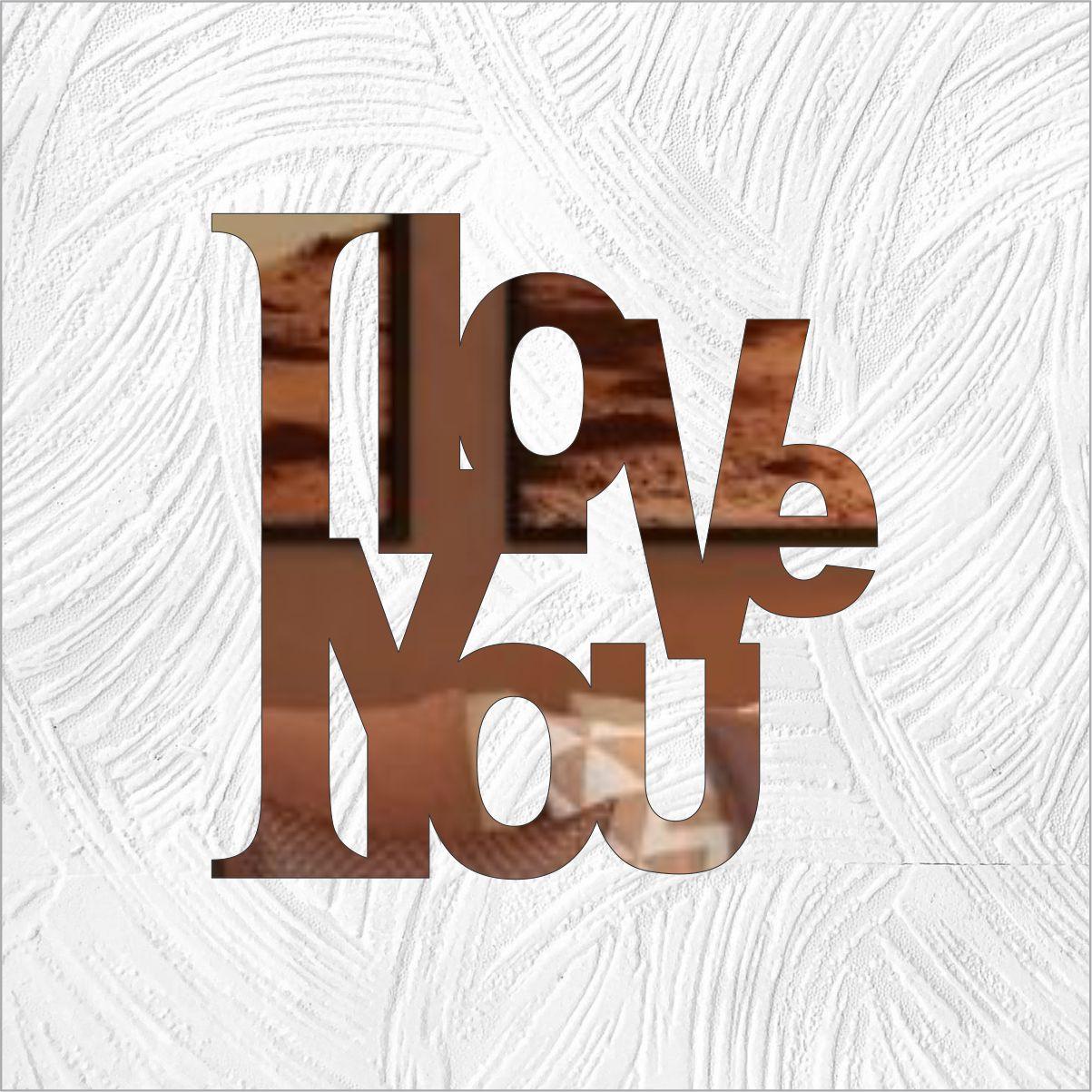 love - Produzido em acrílico espelhado