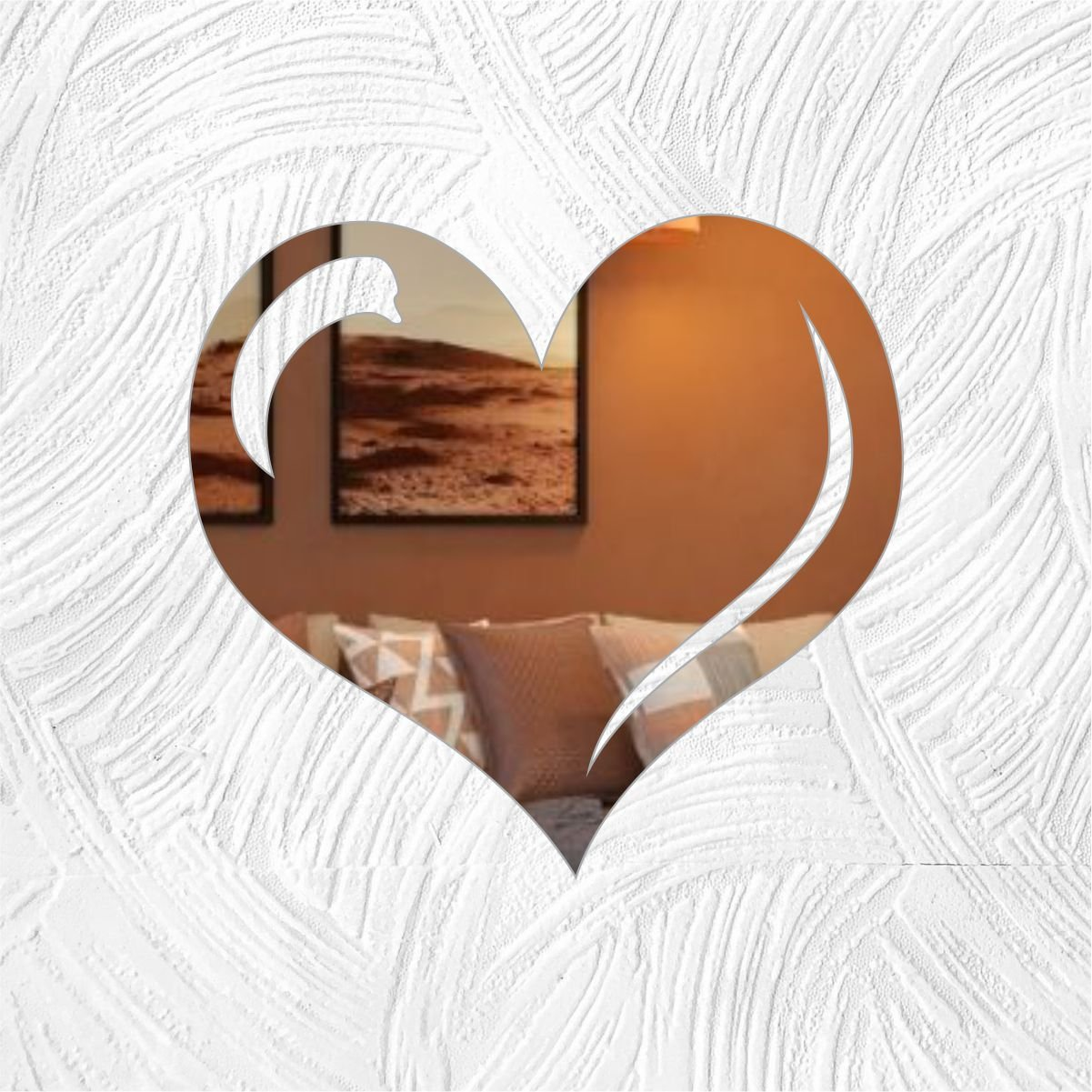 Coração - Produzido em acrílico espelhado