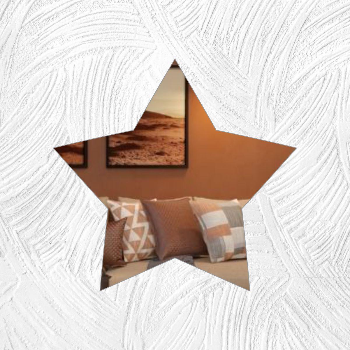 Estrela - Produzido em acrílico espelhado