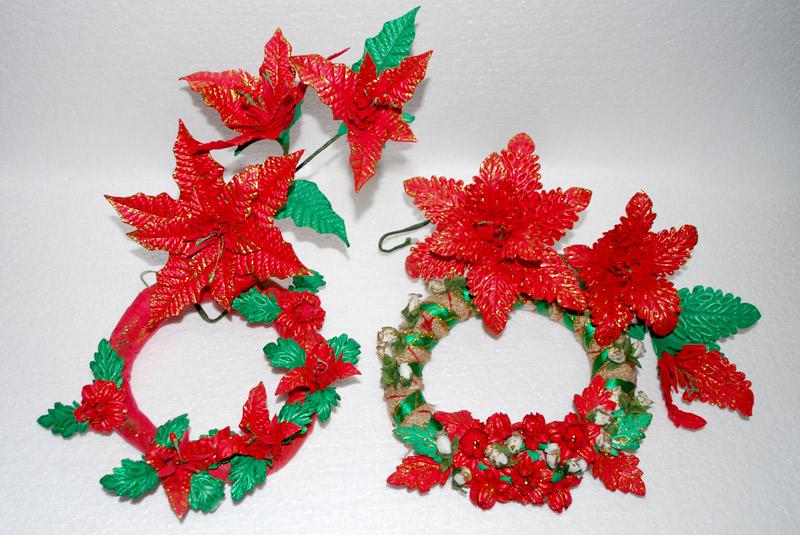 Arranjos de flores feitas com EVA e frisadores Floart