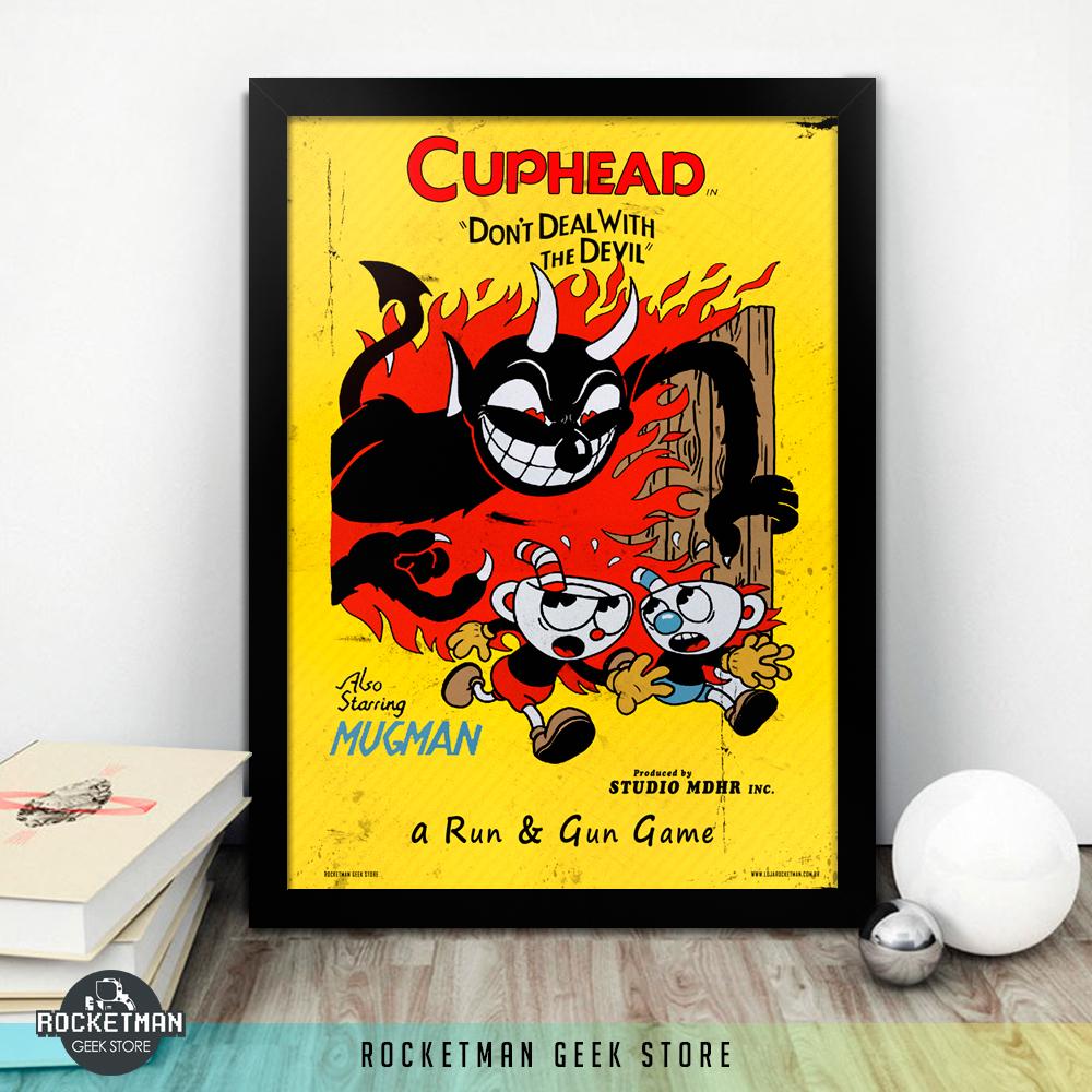 Poster Moldura Cuphead Loja Rocketman