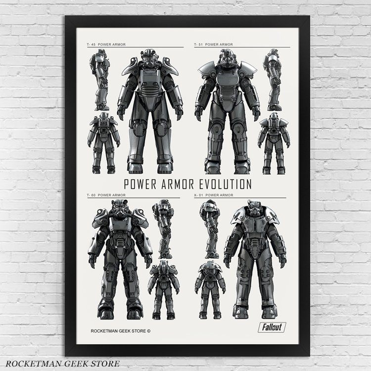 Poster Fallout Power Armor Loja Rocketman