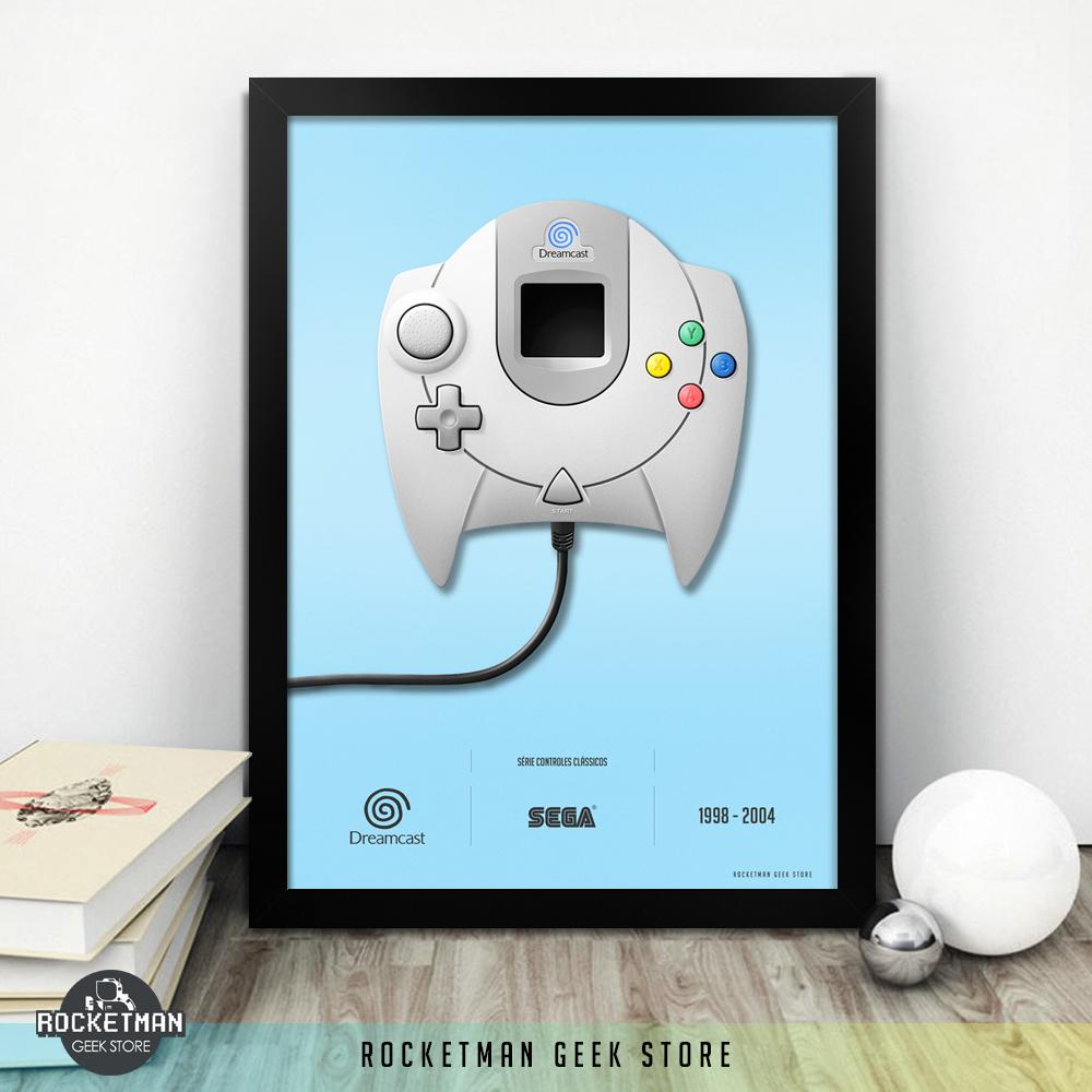 Poster Controles Classicos Dreamcast Loja Rocketman