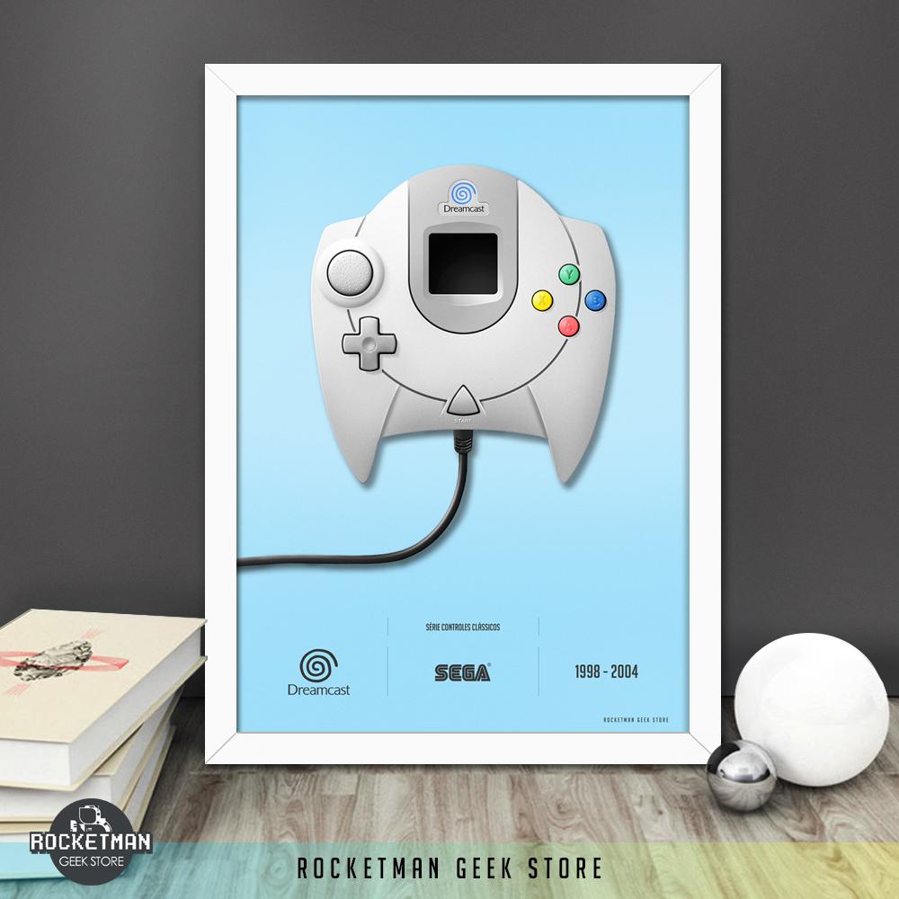 Poster Controles Clássicos Dreamcast Loja Rocketman