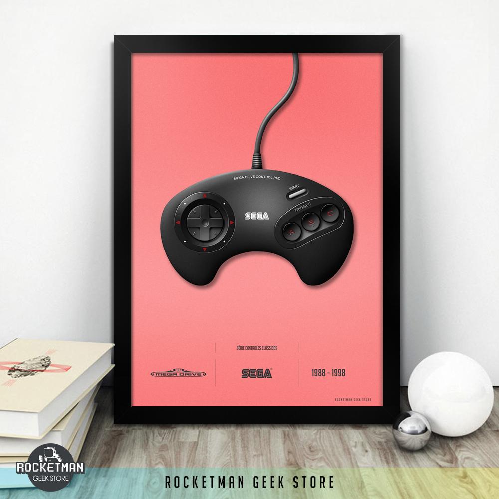 Poster Controles Clássicos Mega Drive Loja Rocketman