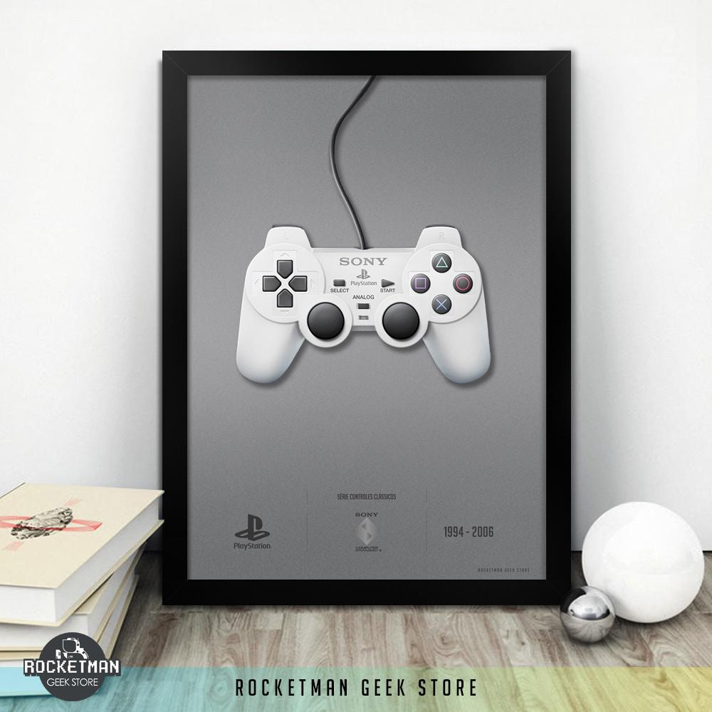Poster Controles Clássicos Playstation Loja Rocketman