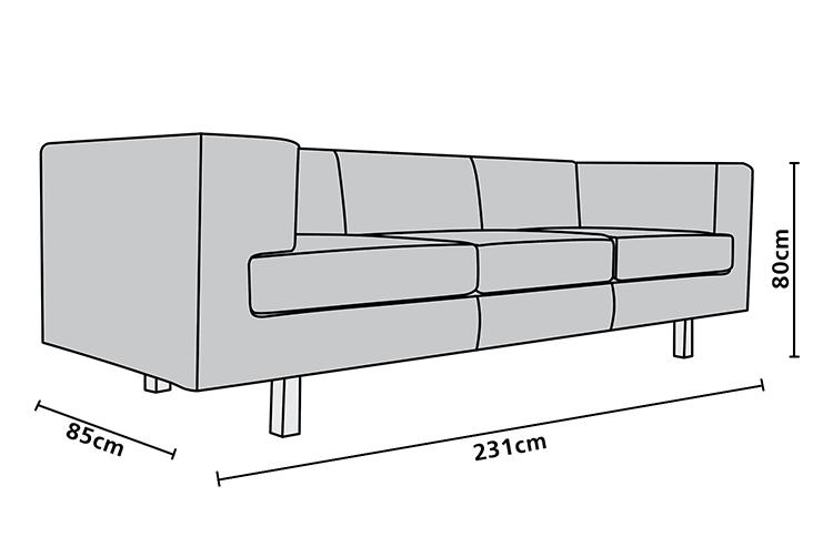 Sof smj 3 lugares m veis para escrit rio rj mirage - Medidas de sofas 3 2 ...