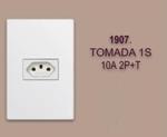 TOMADA 1 S 10A 2P+T  LINHA MODULAR WALMA