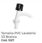 TORNEIRA PVC LAVATÓRIO 1X2 BRANCA RIP REBOUÇAS