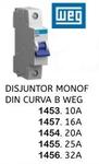 DISJUNTOR MONOF DIN CURVA B WEG 10 A a 32 A (WEG)
