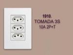 TOMADA 3 S 10A 2P+T  LINHA MODULAR WALMA