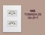 TOMADA 2S 10A 2P+T  LINHA MODULAR WALMA