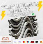 Telha ondulada Fibrocimento Eternit , Brasilit , imbralit  2.44 x 1.10 (5mm)Pontão de Serrambi Ipojuca