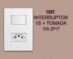 INTERRUPTOR 1S + TOMADA 10 A 2P+T LINHA MODULAR WALMA