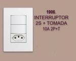INTERRUPTOR 2S + TOMADA 10A 2P+T LINHA MODULAR WALMA