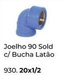JOELHO 90 SOLDAVEL COM BUCHA LATÃO (KRONA)