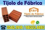 Tijolo 8 Furos direto de Fábrica tijolos de qualidade Vertente do Lério TDF