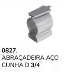 ABRAÇADEIRA AÇO CUNHA D 3X4