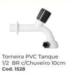 TORNEIRA PVC TANQUE 1X2 BR COM CHUVEIRO 10 CM RIP REBOUÇAS